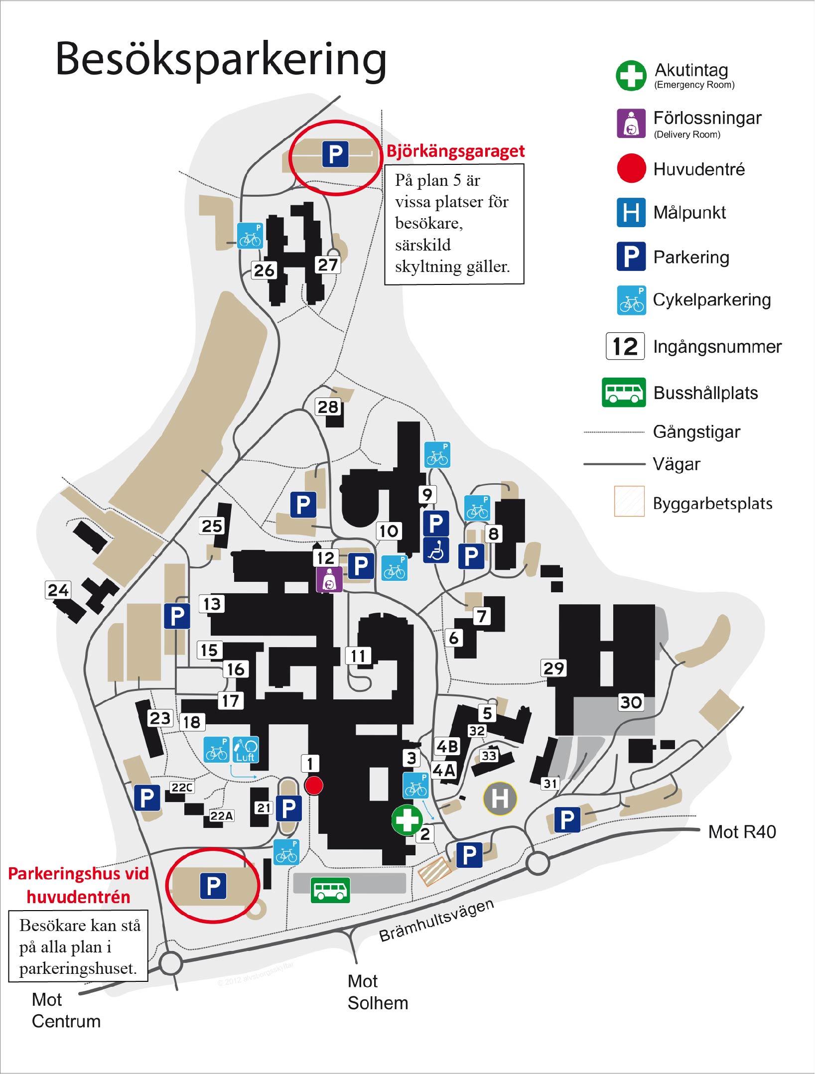 Andring Av Besoks Och Personalparkering Pa Sas Boras Fran 1 Juli